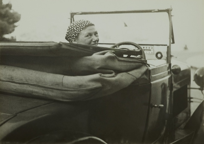 Anonymous. 'Germaine Krull in her car, Monte-Carlo' 1937