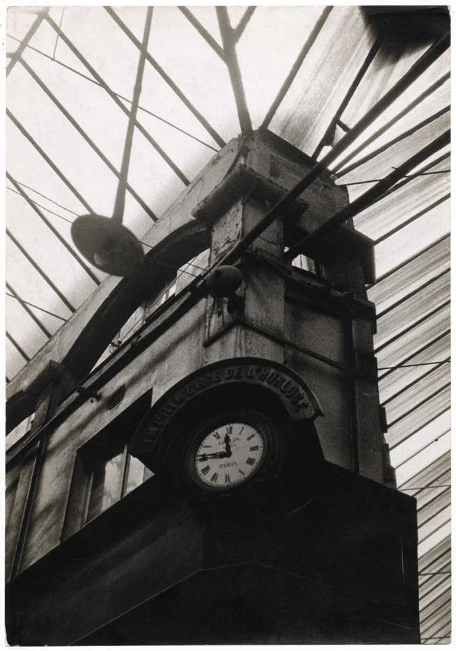 Germaine Krull. 'Ancient architecture: printing house Clock' 1928
