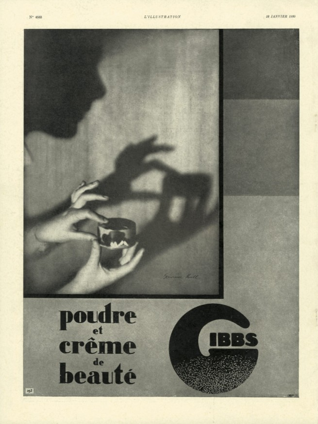 Germaine Krull. 'Gibbs Advertising' L'Illustration, No. 4533, January 18, 1930