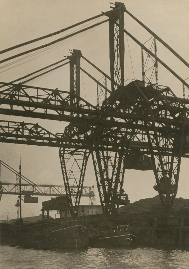 Germaine Krull. 'Bridge crane, Rotterdam' from the series 'Métal', about 1926