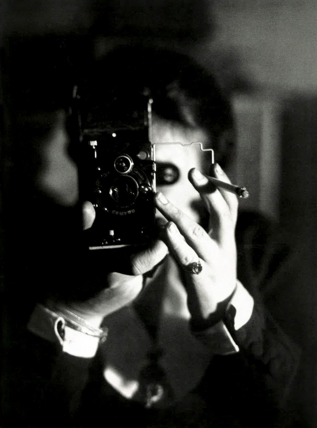 Germaine Krull. 'Self Portrait with Icarette' around 1925