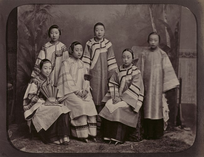 Afong. 'Studio Portrait of Courtesans in Shanghai' c. 1875-1880