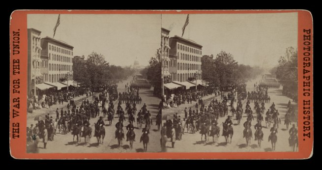 Mathew B. Brady. 'Grand Review Pennsylvania Avenue, May, 1865' 1865