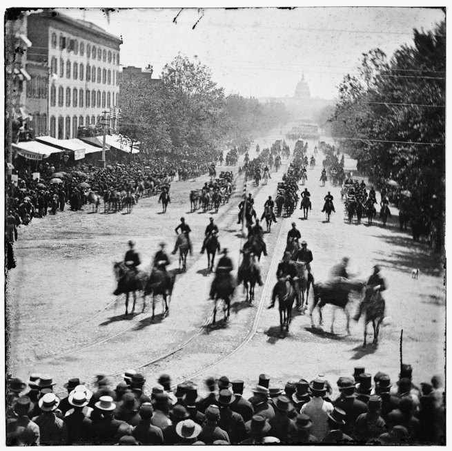Mathew B. Brady. 'Grand Review, Pennsylvania Avenue, May, 1865' 1865