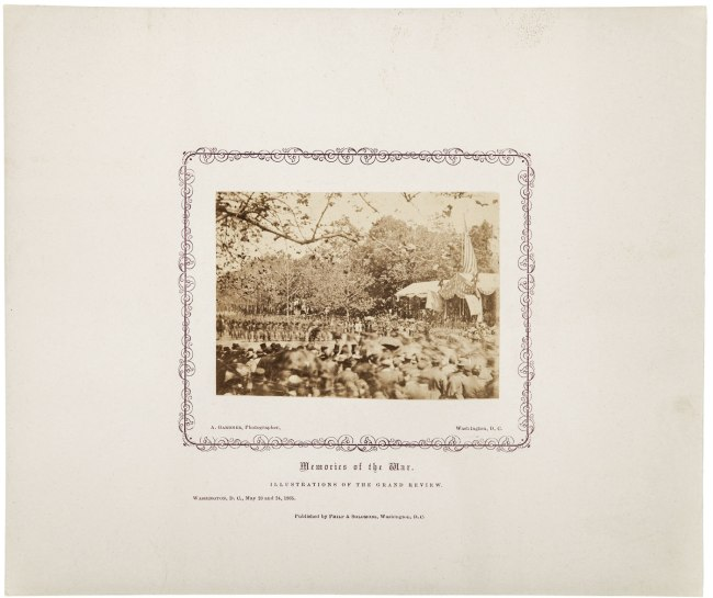 Alexander Gardner. 'Untitled [Presidential reviewing stand, Washington, D.C., May, 1865]' 1865