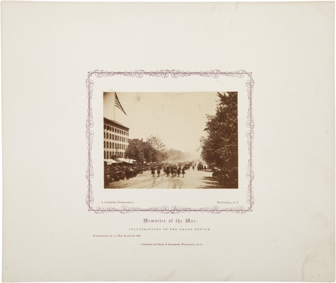 Alexander Gardner. 'Untitled [Gand Review, Pennsylvania Avenue, Washington, D.C., May, 1865]' 1865