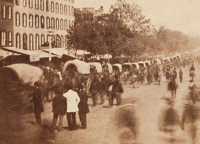 Alexander Gardner. 'Untitled [Gand Review, Pennsylvania Avenue, Washington, D.C., May, 1865]' 1865 (detail)