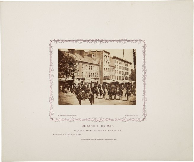 Alexander Gardner. 'Untitled [Gand Review, Pennsylvania Avenue, Washington, D.C., May, 1865]' 1865