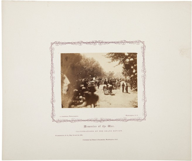 Alexander Gardner. 'Untitled [Gand Review, Washington, D.C., May, 1865]' 1865