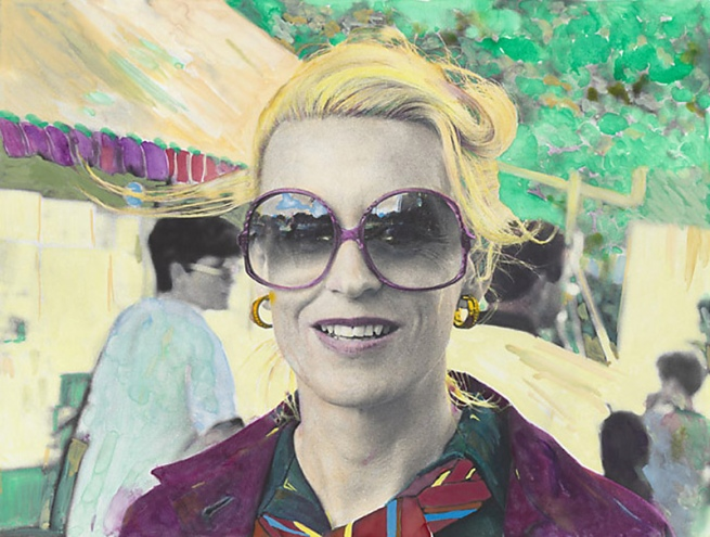 Micky Allan. 'The prime of life no.3 (blond woman wearing sun glasses)' 1979