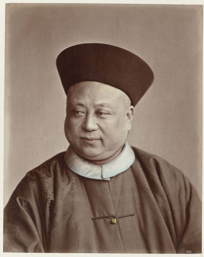 Attributed to Baron Raimund von Stillfried und Ratenitz. 'Portrait of Chinese Admiral Ting' c. 1861 - c. 1880
