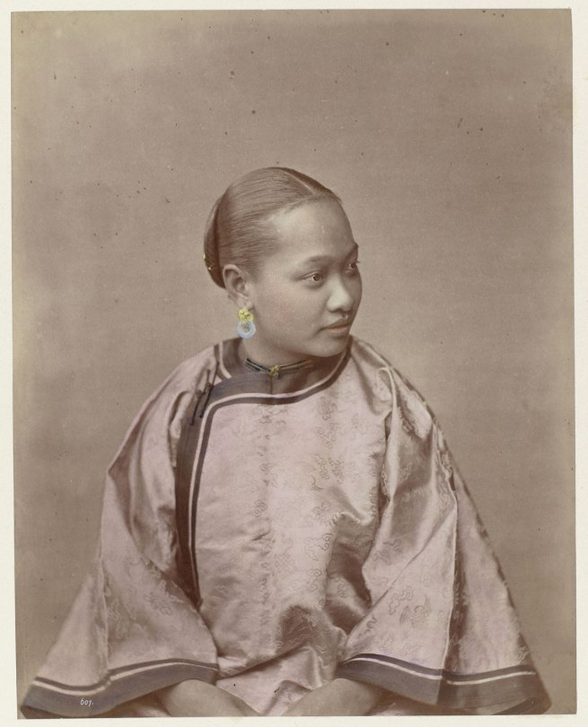 attributed to Baron Raimund von Stillfried und Ratenitz. 'Portrait of a Chinese woman' 1860 - 1870