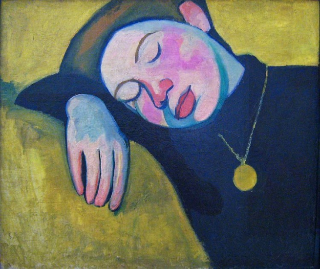 Sonia Delaunay. 'Sleeping girl' 1907