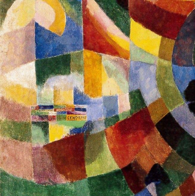 Sonia Delaunay. 'Prismes electrique' (detail) 1914