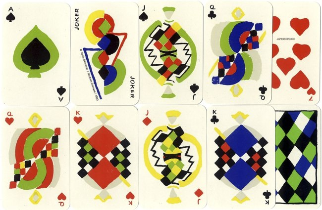 Sonia Delaunay. 'Simultané playing cards' 1964
