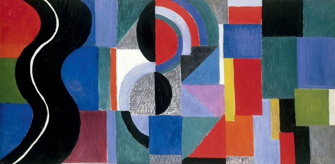 Sonia Delaunay. 'Syncopated rhythm, so-called The Black Snake' 1967