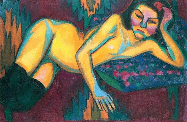Sonia Delaunay. 'Yellow Nude' 1908