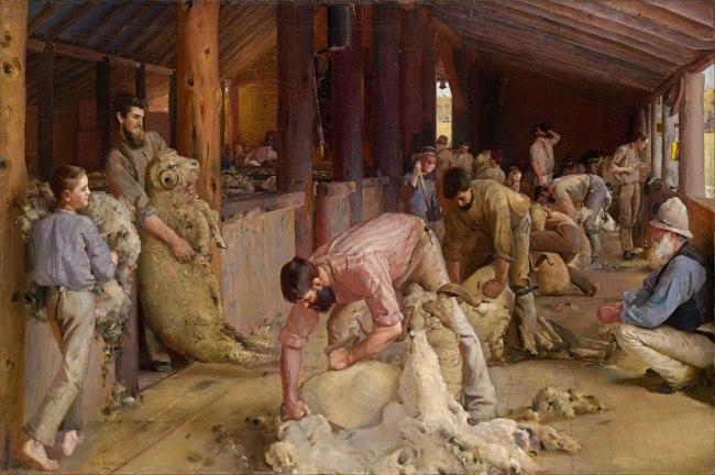Tom Roberts (1856 - 1931) 'Shearing the Rams' 1888-1890