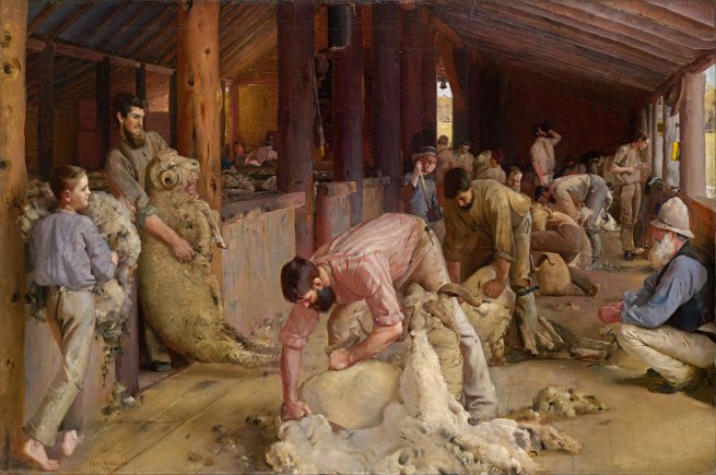 Tom Roberts (1856 - 1931) 'Shearing the Rams' 1888-1890