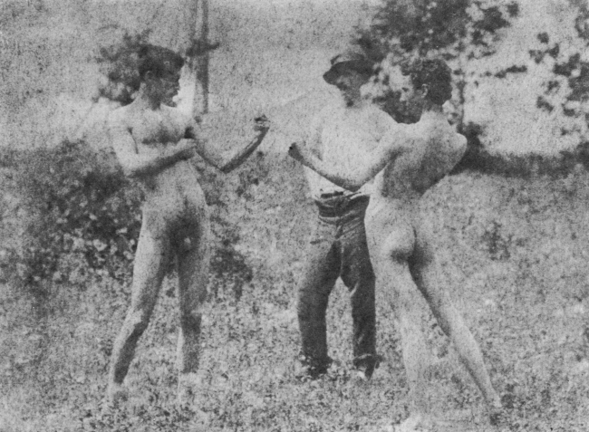 Thomas Eakins 'Unidentified model, Thomas Anschutz and J. Laurie Wallace' 1883