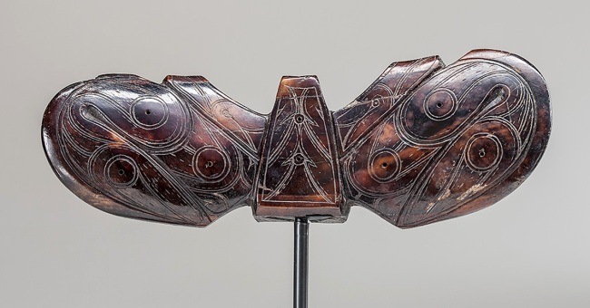 Old Bering Sea III culture. 'Harpoon counterweight (Winged object)' 5th-9th century
