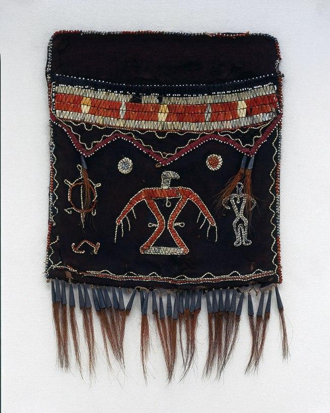 Anishinaabe, Ojibwa, Ontario. 'Shoulder bag (without strap)' c. 1820