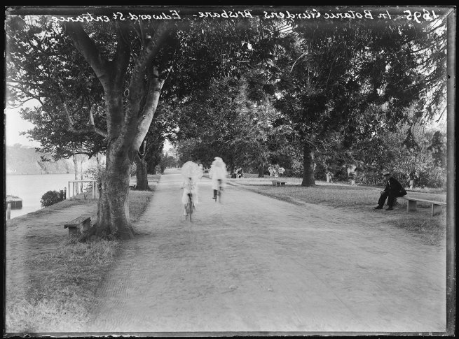 Alfred Elliott. 'Brisbane Botanic Gardens, near the Edward Street entrance' 1895