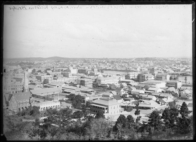 Alfred Elliott. 'Brisbane, from the Windmill' 1895