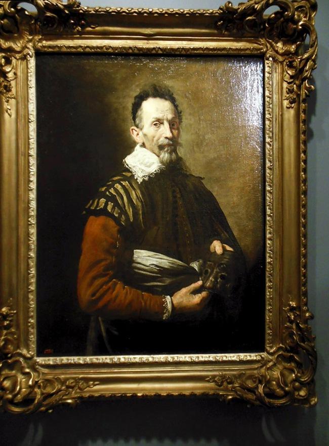 Domenico Fetti (Italian 1589-1623) 'Portrait of an actor' 1620s