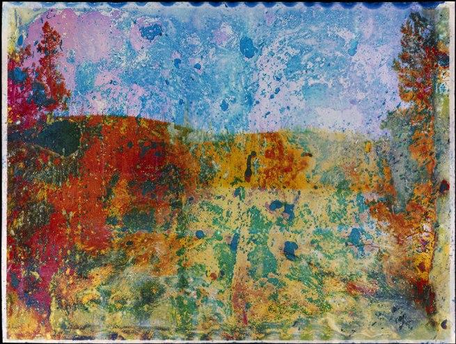 Matthew Brandt (American, born 1982) 'Rainbow Lake, WY A4' Negative 2012; print 2013