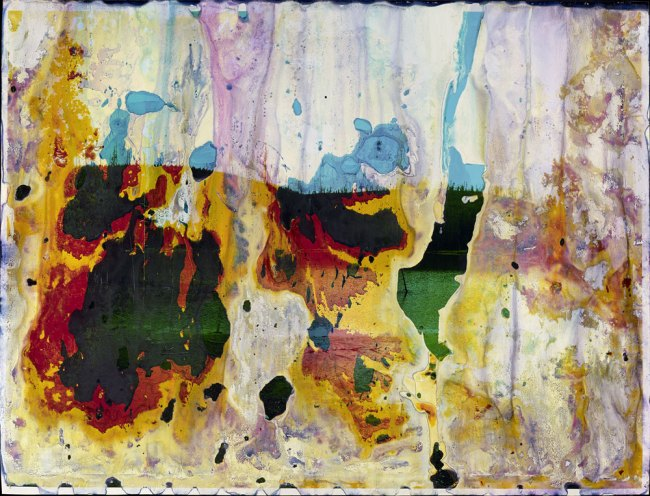 Matthew Brandt (American, born 1982) 'Rainbow Lake, WY A20' Negative 2012; print 2013