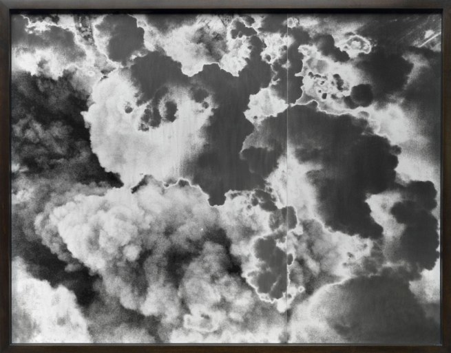 Lisa Oppenheim (American, born 1975) 'A Handley Page Halifax of No. 4 Group flies over the suburbs of Caen, France, during a major daylight raid to assist the Normandy land battle. 467 aircraft took part in the attack, which was originally intended to have bombed German strongpoints north of' 2012