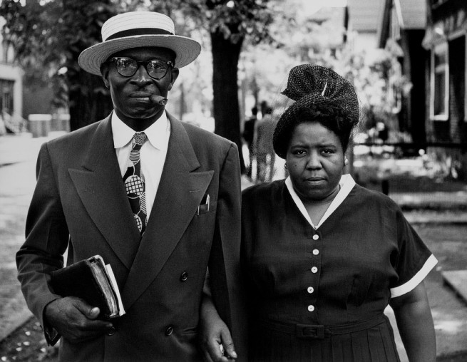 Gordon Parks. 'Husband and Wife, Sunday Morning, Detroit, Michigan' 1950