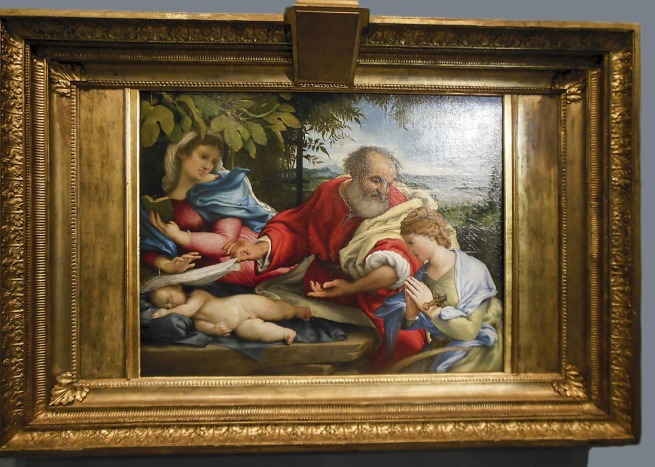 Lorenzo Lotto (Italian c. 1480-1556) 'The Rest on the Flight into Egypt with Saint Justine' 1529-30