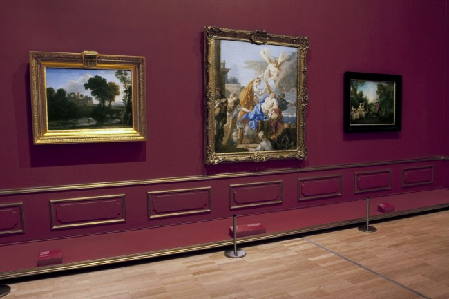Installation view of room 5 of the exhibition 'Masterpieces from the Hermitage: The Legacy of Catherine the Great' at NGV International, Melbourne