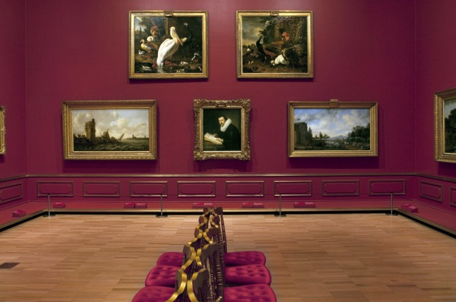 Installation view of room 4 of the exhibition 'Masterpieces from the Hermitage: The Legacy of Catherine the Great' at NGV International, Melbourne