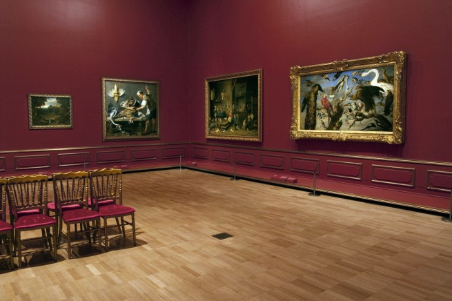Installation view of room 7 of the exhibition 'Masterpieces from the Hermitage: The Legacy of Catherine the Great' at NGV International, Melbourne