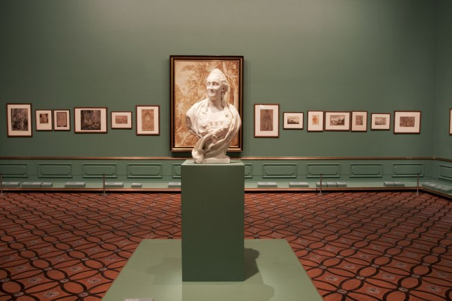 Installation view of room 6 of the exhibition 'Masterpieces from the Hermitage: The Legacy of Catherine the Great' at NGV International, Melbourne