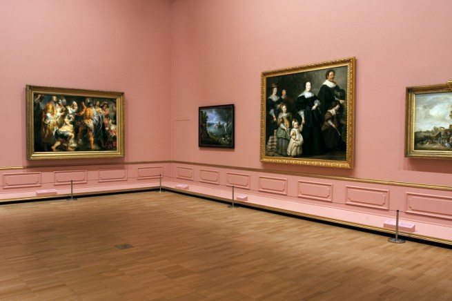 Installation view of room 3 of the exhibition 'Masterpieces from the Hermitage: The Legacy of Catherine the Great' at NGV International, Melbourne