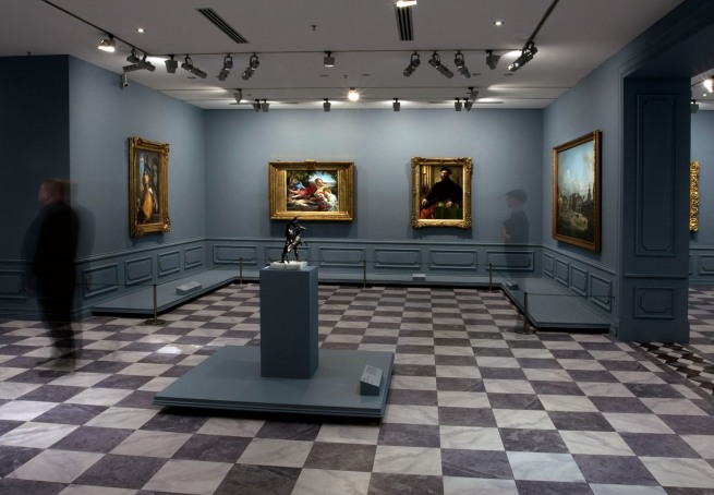 Installation view of room 2 of the exhibition 'Masterpieces from the Hermitage: The Legacy of Catherine the Great' at NGV International, Melbourne