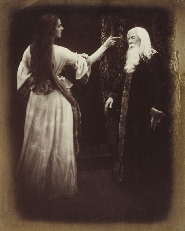 Julia Margaret Cameron. 'Vivien and Merlin from Illustrations to Tennyson's Idylls of the King' 1874