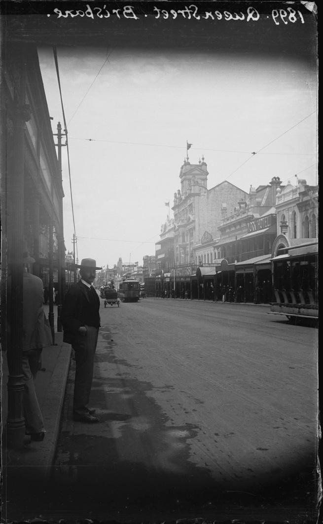 Alfred Elliott. 'Queen Street, Brisbane' 1899