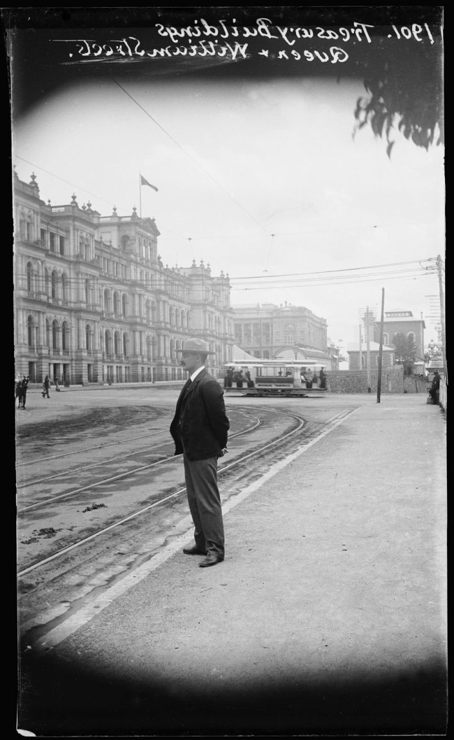 Alfred Elliott. 'Treasury Building, Queen and William Street' 1901