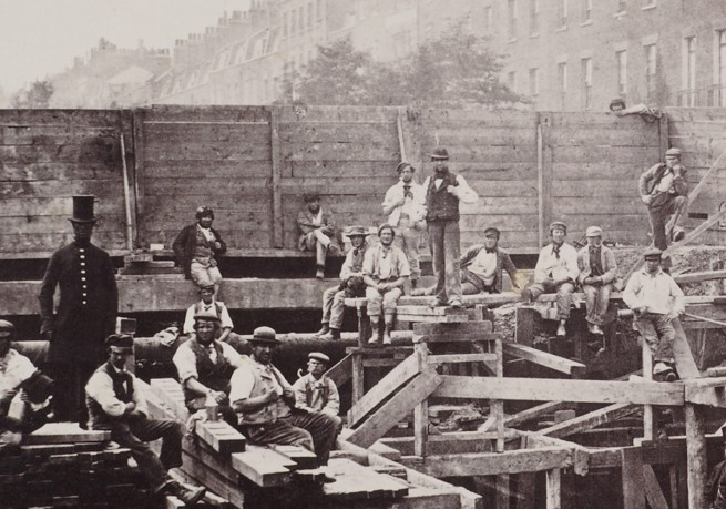 Henry Flather. 'Building the Metropolitan Railway' 1862