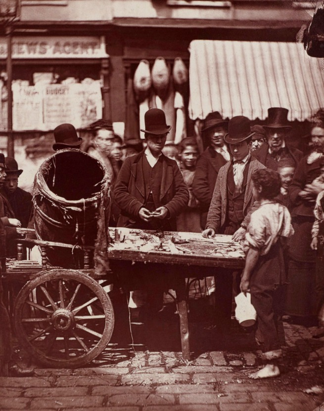 John Thomson. 'The Cheap Fish Of St. Giles's' 1877
