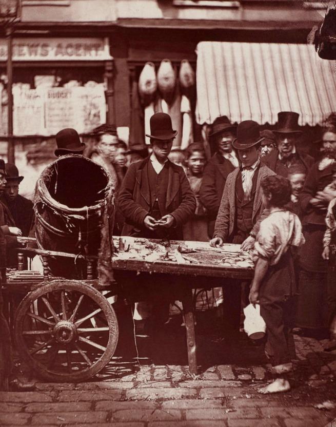 John Thomson. 'The Cheap Fish Of St. Giles's' 1877