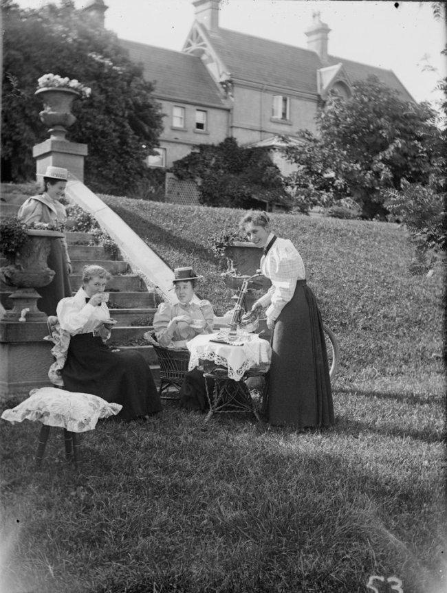 James Fox Barnard (1874-1945) 'Lawn, Arylie, Hobart' c. 1900