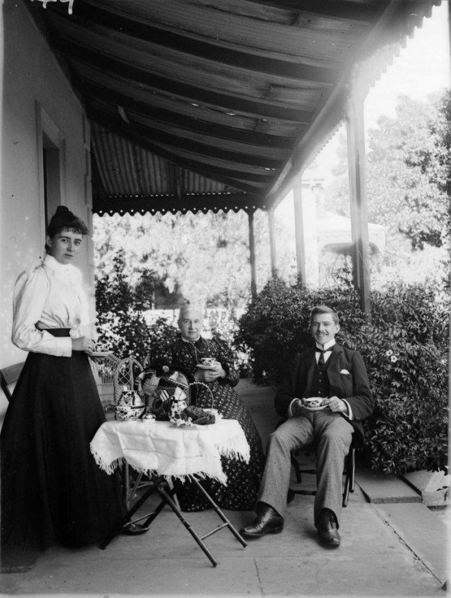 James Fox Barnard (1874-1945) '[Tea on the verandah]' c. 1900