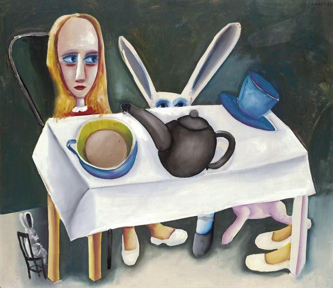 Charles Blackman (b. Australia 1928) 'Feet beneath the table' 1956