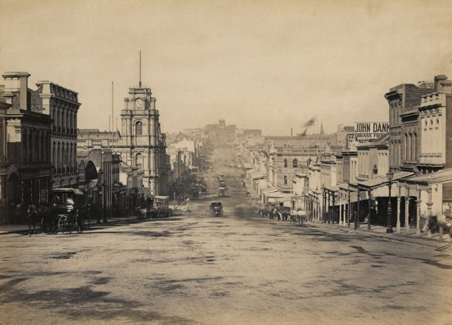 Nicholas Caire (born United Kingdom 1837; arrived Australia 1858; died 1918) 'View of Bourke Street, Melbourne' 1877-78